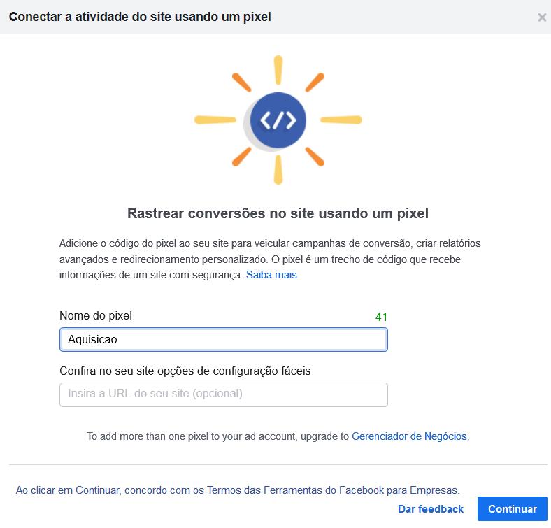 nome pixel - Como Anunciar no Facebook Ads Em 5 Passos Simples